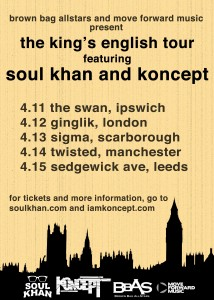 Soul Khan_ Koncept_ King's English Tour